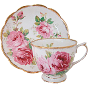Royal Albert American Beauty Pink Roses Bone China Tea Cup Saucer England