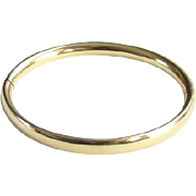 Vintage Classic 12K Yellow Gold Filled Hinged Bangle Bracelet Stamped
