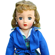 1950s Ideal Miss Revlon Doll Kissing Pink Blue Paisley Print and Jacket VT-18