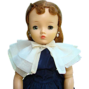 1957 Redhead Cissy Doll in Afternoon Navy Taffeta Dress Cape Madame Alexander 20 Inch