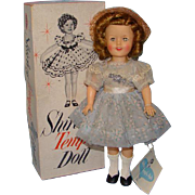 1958 Mint Shirley Temple Doll in Nylon Party Dress Box Wrist Tag Ideal 12 Inch