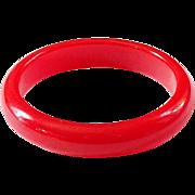 Cherry Red Lucite Bangle Bracelet