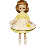 Rare Betsy McCall Doll in Yellow White Check Patio Party Dress 1963