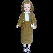 1950s Cissy Doll Madame Alexander in Vintage Tweed Business Suit 20 Inch