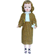 1950s Cissy Doll Madame Alexander in Vintage Tweed Business Suit 20 Inch