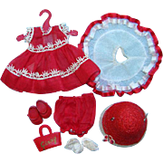 1954 Vogue Ginny Doll Outfit My First Corsage for Straight Leg Walker