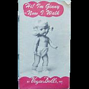 1954 Vogue Ginny Doll Fashion Brochure Booklet