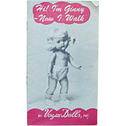 1954 Vogue Ginny Doll Fashion Brochure Booklet