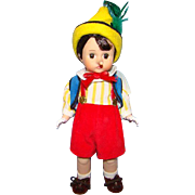 Madame Alexander 8 Inch Hard Plastic Pinocchio Doll Wendy Face