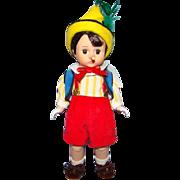 Madame Alexander 8 Inch Hard Plastic Pinocchio Doll Wendy Face