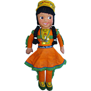 RARE Howdy Doody Princess SummerFall WinterSpring Cloth Doll Ahmco Products C1950s