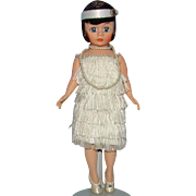Madame Alexander Portrettes Flapper Doll in White Cissette 1118 in Box Brunette