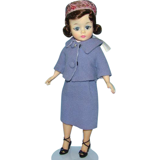 1962 Cissette Jackie Jacqueline Doll in Blue Suit Rare Pillbox Hat Madame Alexander