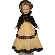 Rare 1950 Madame Alexander Godey Lady Doll Margaret Face 14 Inch Hard Plastic in Original Gown