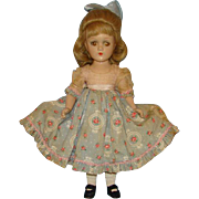 RARE C1940 Madame Alexander Madelaine du Bain Doll Strung Composition 15 Inch Wendy Ann