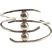 Vintage Taxco Mexico Modernist Style Sterling Silver Cuff Bracelet Signed 925 TL-120