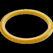 Vintage Yellow Bakelite Spacer Bangle Bracelet