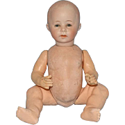 Antique DV/1 German Swaine Bisque Head Character Baby Doll 9.5 Inch