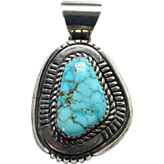 Vintage Turquoise Necklace Pendant Sterling Silver Native American Southwest