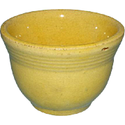 Old Yellow Ware Yellowware Yelloware Custard Cup Flared Lip Ridged Rim
