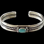 Vintage Southwestern Turquoise Cuff Bracelet Handmade Native American
