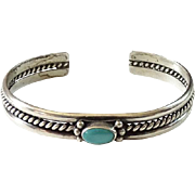 Vintage Southwestern Turquoise Cuff Bracelet Handmade Native American