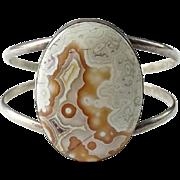 Vintage Southwestern Gemstone Sterling Silver Cuff Bracelet