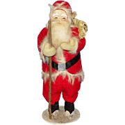 Old Antique Japan Christmas Santa Claus St Nicholas Carrying Toy Pack Stick 10.5 Inch
