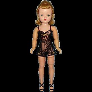 Madame Alexander Cissy Fashion Doll 20 Inch in Tagged Black Chemise Hard Plastic