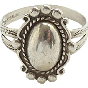 Vintage Native American Bell Trading Post Sterling Silver Ring Size 9 Hallmarked