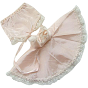 C1958 Shirley Temple Doll Pink Taffeta Slip Panties For 12 Inch Vinyl Ideal