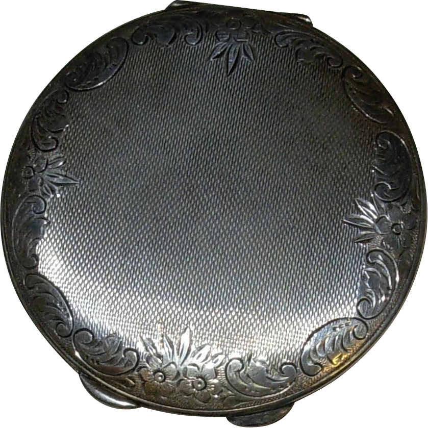 Vintage Sterling Silver Ladies Powder Compact