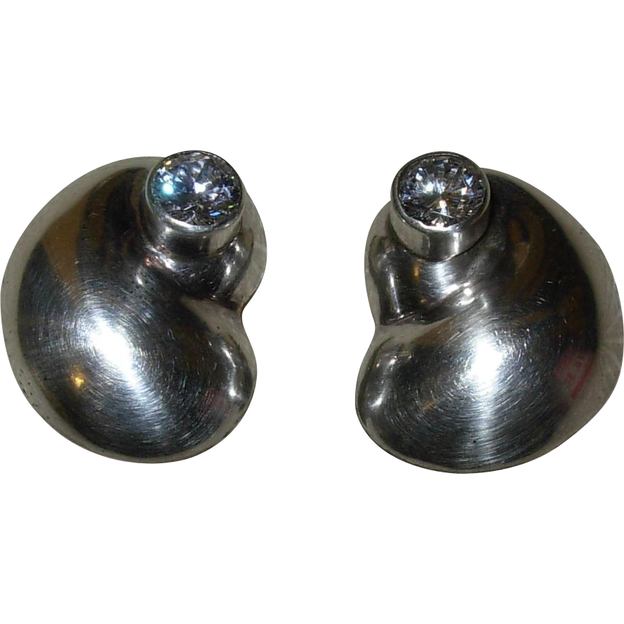 Vintage Mexican Sterling Silver Clip Earrings