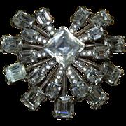 Vintage Eisenberg Signed Sterling Silver Pin Brooch