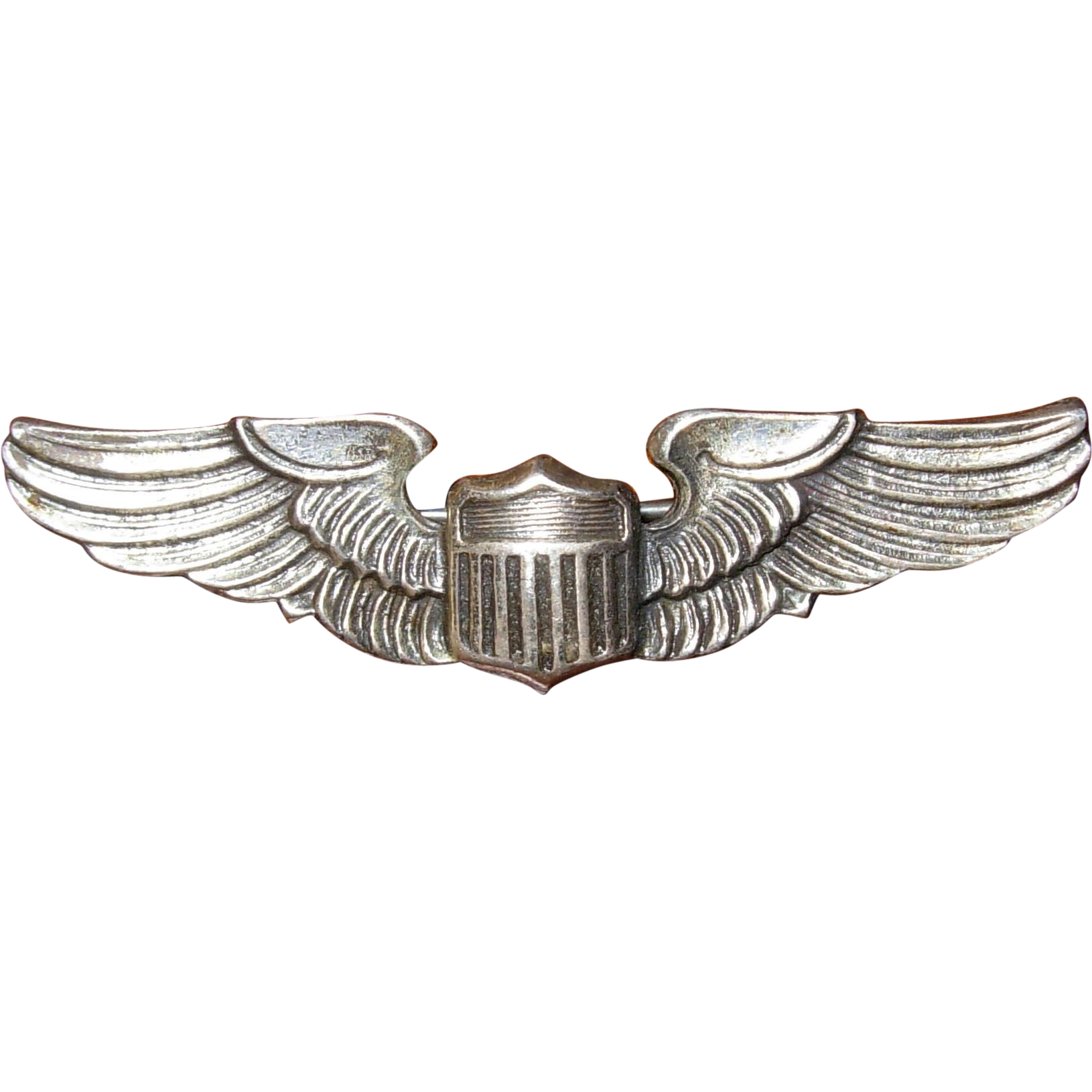 Vintage Sterling Silver Us Airforce Military Wings Pin