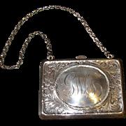 Antique Victorian Sterling Silver Purse