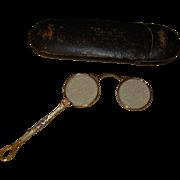 Antique Lorgnette Foldup Opera Glasses in Original Case - Red Tag Sale Item