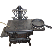 Vintage Crescent Cast Iron Miniature Toy Stove