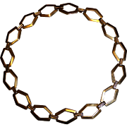 Vintage Choker Link Necklace Art Deco Style