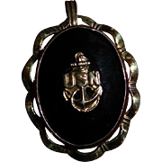 Vintage USN Military Sweetheart Locket Pendant