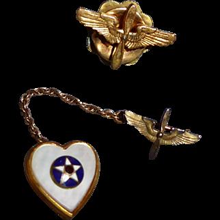 Vintage US Military Wings Pins