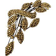 Vintage Signed Vendome Large Rhinestone Pin Brooch