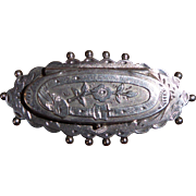Antique Victorian Sterling Silver English Pin Brooch
