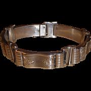 Vintage Czech Republic Sterling Silver Bracelet