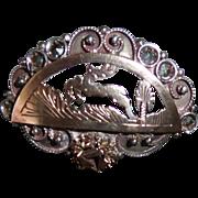 Vintage Sterling Silver Art Deco Pin Brooch