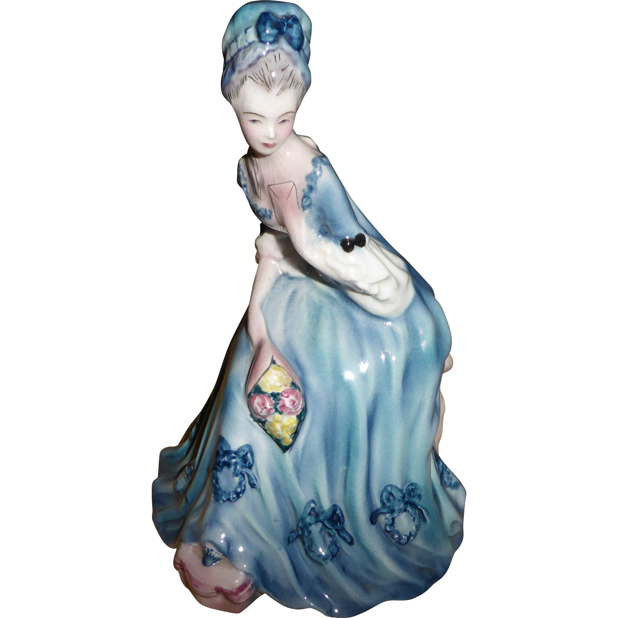 Lovely Vintage Goldscheider Victorian Lady Figurine