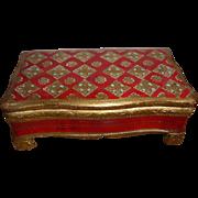 Vintage Italian Florentine Footed Dresser Trinket Box
