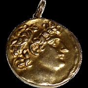 Vintage Solid 14 kt Gold Coin Pendant
