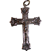 Vintage Sterling Silver Large Cross Pendant