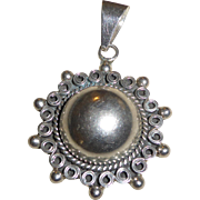 Vintage Mexican Sterling Silver Pendant